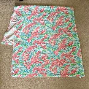 Lilly Pulitzer lobstah roll beach towel